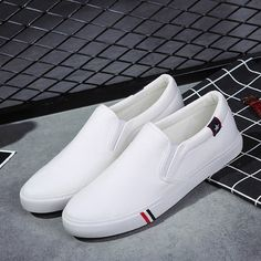USA Fashion Men No Shoelaces Loafers Leisure Slip on Canvas Shoes Sneakers Cheap Cheap Sneakers, Casual Sneakers, Casual Shoes, Cheap Shoes, Mens Fashion Shoes, Sneakers Fashion, Cheap Fashion, Zapatillas Tommy Hilfiger, Baskets