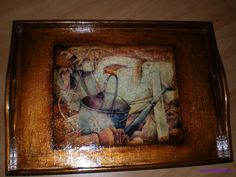 decoupage tray art home decor
