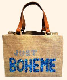 """Just Boheme blau"" Beach bags www.sylt-boheme.de"