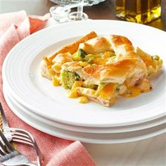 Turkey Lattice Pie Recipe -With its pretty lattice crust, this cheesy spin on the potpie is as eye-catching as it is delicious. It's easy to make, too, since it uses convenient crescent roll dough. It's a fun and different way to dress up leftover turkey. —Lorraine Naig, Emmetsburg, Iowa