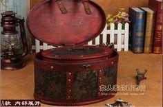 Continental retro antigo baú de madeira de madeira pequena caixa de armazenamento caixa de jóias da princesa caixa de jóias Coréia criatividade em Ciaxas de armazenamento & lixo de Home & Garden no AliExpress.com | Alibaba Group