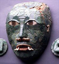 Mask made of jade National Archaeological Museum of Ethnology built Guatemala