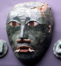 Mask made of jade, National Museum of Archaeology and Ethnology, Guatemala