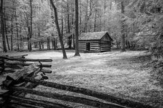 This photograph was taken in the Smoky Mountain National Park in spring. The small cabin is representative of the settlers that lived in Cades Cove. Artwork For Home, Home Art, Art Prints For Sale, Framed Art Prints, Smoky Mountain National Park, Smokey Mountain, Fine Art Photography, Travel Photography