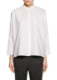 Oversized katoenen blouse