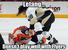 Get him Tanger...we don't fool with the Flyers. Just don't end his career.
