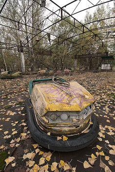 Pripyat Fun Fair Bumper Cars by jamescharlick, via Flickr