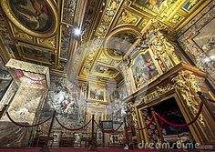 The royal chamber of Cheverny castle. Loire valley, France