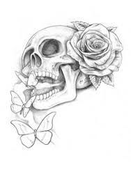 Simple Skulls And Roses Drawings Amazing Tattoos In 2019