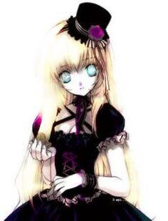 tea party anime girl gothic