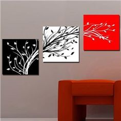 Online Shop Picture Superb Canvas Print Charm BeautifulCharm huge huge Charm Wall Hanging Art red white black tree 70 (No Frame)( Wall Art Sets, Diy Wall Art, Wall Decor, Abstract Canvas, Oil Painting On Canvas, Canvas Paintings, Painting Abstract, Spray Painting, Diy Canvas