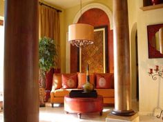 Golden and Brown Complementary Color for Moroccan Interior Design