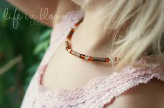 A Simmering Pot and a Mom: Crafting for Health: Stringing Hazelwood & Amber Necklaces with Kids