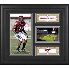 "Brandon Flowers Virginia Tech Hokies Fanatics Authentic Framed 15"" x 17"" Collage - $49.99"