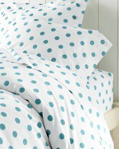 Dot to Dot Percale Bedding - Garnet Hill