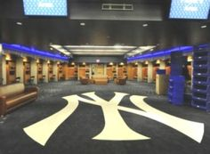 Inside the New York Yankee Locker Room - not many get the walk this carpet!