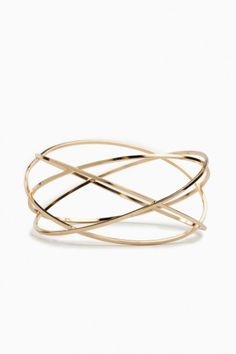 Golden Orbit Bangle.