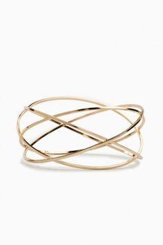 Golden Orbit Bangle//