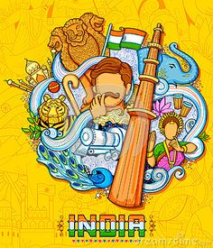 Indian background showing its incredible culture and diversity with monument, dance and festival celebration for August Independence Day of India Independence Day Drawing, Independence Day Poster, Independence Day Wallpaper, Independence Day India, Ancient Architecture, Architecture Tattoo, Incredible India Posters, Amazing Photos, Diversity Poster