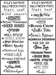 DIY 30 free Halloween fonts