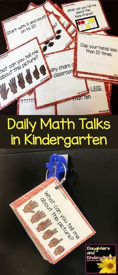 Daily Math Talks in Kindergarten | number talks | counting and cardinality | number sense