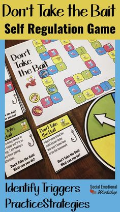 Self regulation game for school counseling to help students practice strategies and identify triggers. Strategy cards, scenarios, and plans for students to work through. Social Emotional Workshop
