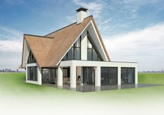 Cabin Design, Roof Design, House Design, Rustic House Plans, Modern Rustic Homes, Maine House, Bungalow, New Homes, Villa