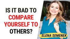 Why Comparing Yourself to Others is Bad. Online Psychologist, Stop Comparing, Comparing Yourself To Others, Feelings And Emotions, Inspirational Videos, Self Development, Self Improvement, Self Help, Psychology