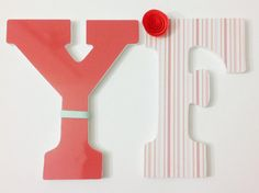 ***THIS IS FOR ONE NURSERY LETTER***  The perfect nursery letters to compliment any room! Our nursery letters are a mixture of decoupage and