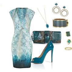 """""""Teal Ombre"""" by bethherrmann on Polyvore"""