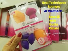 Real Techniques Sponges at Walmart - Save $5 with Ibotta Rebate   Coupon Mamacita