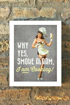 BAD COOK Chef Pin Up Girl Print Kitchen Retro 1950s by MMPaperCo
