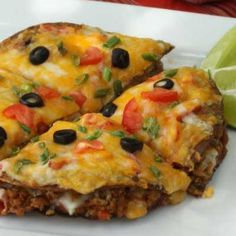 Skinny Mexican Pizza - one of my teens' favorites.. no one will guess its turkey!