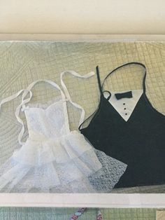 bride and groom apron