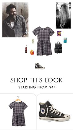 """Idk wht to call this"" by littlesweetheart123 ❤ liked on Polyvore featuring Motel, Converse and Aspinal of London"