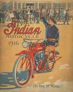 Indian Motorcycle (1916) #vintage #ad