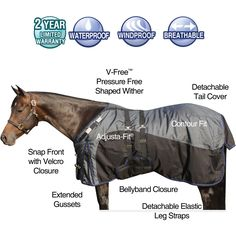 We love our StormShield® 1680D REGULATOR Bellyband Turnout! This blanket is waterproof, windproof and breathable. It is built for exceptional durability for the roughest play! Features include Tekno-Dri climate control lining for enhanced breathability, pressure free withers, adjusta-fit shoulders, extended gussets, detachable tail cover, contour fit and bellyband. This has a sloped shoulder design created with a larger neck opening. Designed for Arabians, Quarter Horses & other stock…