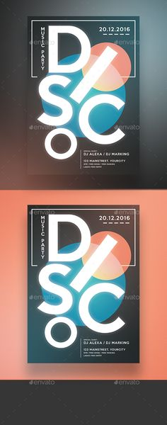Electro Disco Flyer  — PSD Template #dubstep #dance • Download ➝ https://graphicriver.net/item/electro-disco-flyer/18262994?ref=pxcr