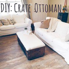 DIY: crate ottoman