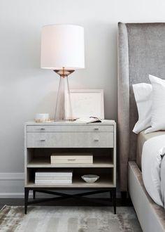 modern white and gray bedroom design - Neutral Bedroom Decor - Elizabeth Metcalfe Interiors. Decor, Interior Design, Furniture, Bedroom Interior, Home, Interior, Bedroom Inspirations, Bedroom Furniture, Home Decor