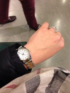 #Moncler Jacket, #Burberry Scarf, #Rolex Datejust Timepiece and #Cartier Diamonds - #fashion #women #diamonds #style - rossdujour.com