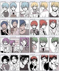 Kuroko no Basket ~~ Aomine Daiki, Kise Ryota, Murasakibara Atsushi, Kuroko Tetsuya, Midorima Shintarou, Akashi Seijurou, Kagami Taiga, Himuro Tatsuya