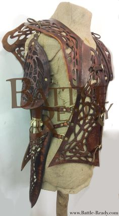 This is some of our bespoke armour we have created over winter. Designed, tooled and moulded for a custom witch hunter outfit. We feel that piece truly shows the standard of our bespoke tooling and design.  View more at www.Battle-Ready.com Visit us on Facebook www.facebook.com/BattleReady
