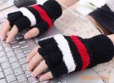 Eforstore Fingerless Gloves USB Heated Stripe Design Winter Warm Plush Laptop Mittens Hand Warmer for Women Teen Girls Hand Warmer Gloves, Hand Warmers, Keep Warm, Stay Warm, Electric Hand Warmer, Fingerless Mittens, Mitten Gloves, Women's Gloves, Younique