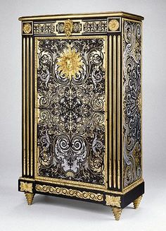Secretary / Stamped by Philippe-Claude Montigny / English, Paris, about 1770 - 1785 / Oak and pine veneered with tortoiseshell, brass, pewter, ebony and bandings; gilt bronze mounts