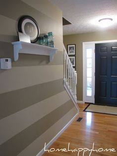 home happy home: striped entry reveal