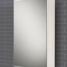 Double Swivel Mirror Door Bathroom Cabinet