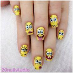 SpongeBob Nails. How Fun!