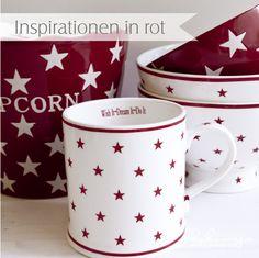 Geschirr Sterne - Mugs / Bowls Stars - www.kukuwaja.de