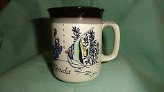 Florida Tropical Fish Mug Coffee Tea State Gfni Travel Brown | eBay